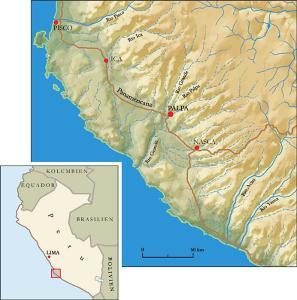 Landkarte Peru, Südküste
