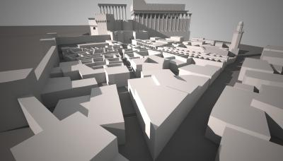 3D-Rekonstruktion des Stadtviertels im Bustan Nassif