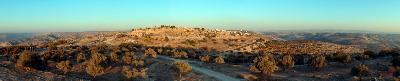 Blick von Westen auf den Siedlungshügel