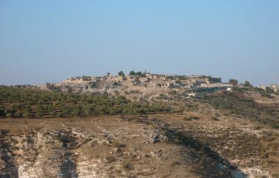 Der Siedlungshügel von Südwesten