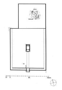 Späthellenistischer Podientempel I mit Tempelbezirk