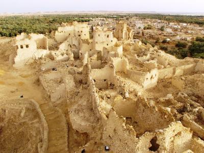 Aghurmi, Reste der modernen Bebauung-NO Seite