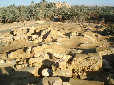 Das Ammoneion in der Oase Siwa von Umm Ubayda aus nach Norden
