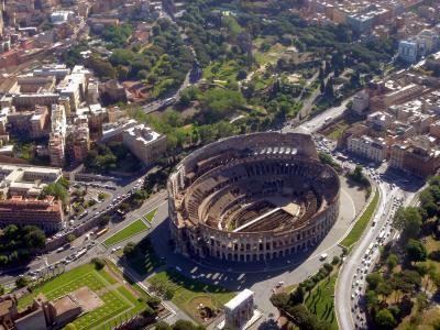 Kolosseum, Luftbild