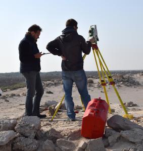 Umm el-Houl (Katar). Bauaufnahme und topografische Vermessung durch datalino