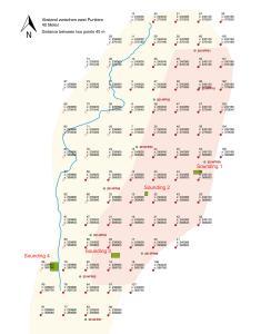 Umm el-Houl (Katar). Messnetz mit 40m und 20m grids im QNG