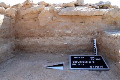 Umm el-Houl (Katar). Stratigrafische Verbindung beider Bauphasen