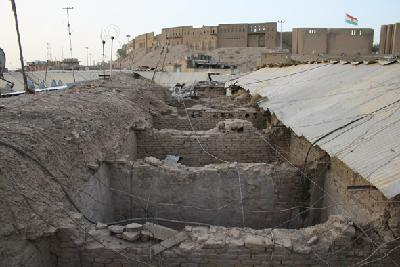 Erbil, Qaisariya Ost, eingestürztes Obergeschoss