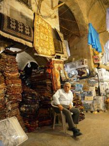 Erbil, Teppichladen in der Qaisariya West