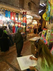 Erbil, zeichnerische Dokumentation der Außenfassaden der Qaisariya West