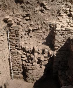 Yeha (Äthiopien). Teil eines Repräsentatvbaus aus dem 8.–6. Jahrhundert v. Chr. unterhalb des geplanten Site-Museums von Yeha