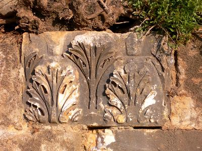 Kaiserzeitliche Spolie in der seldschukischen Außenwand
