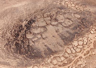 Aerial view on Khirbet Abu al-Husayn