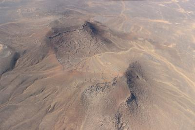 Aerial view on Tulul al-Ghusayn