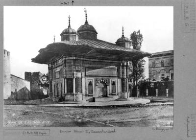 Fotopappe Istanbul, Brunnen Sultan Ahment III, Gesamtansicht