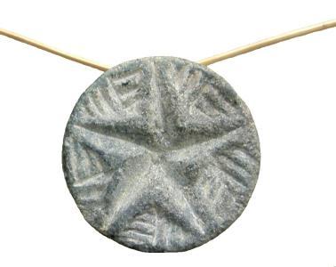 Gonur 20. Siegelamulett aus Stein b) Fünfstrahliger Stern