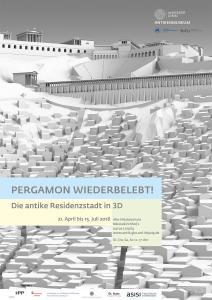 Ausstellungsplakat Pergamon wiederbelebt