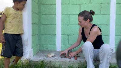 Arbeiten auf dem Schulgelände in Guadalupe