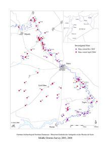 Fundplatzkartierung, 2003 und 2004