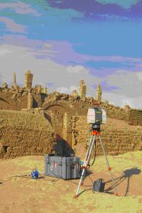 Resafa, Basilika A, Vorbereitende Untersuchungen für Konsolidierungs- und Restaurierungsmaßnahmen, Terrestrischer Laserscanner Leica HDS 3000, 200
