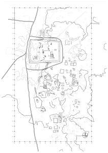 Resafa-Sergiupolis - Rusafat Hisham, Gesamtplan mit ausgewählten Fundpunkten (FP), 2007