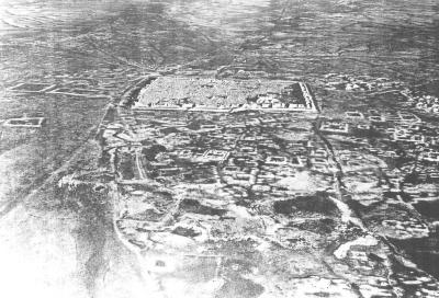 Resafa-Sergiupolis - Rusafat Hisham, Luftbild von Süden