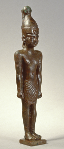 Kleine Bronzestatuette aus dem Tempel