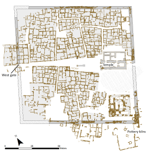 Stadtplan der antiken Oberstadt von Hamadab