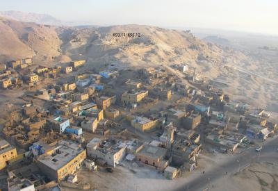 Blick von Süden nach Dra' Abu el-Naga