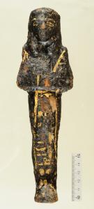 Hölzernes Dienerfigürchen (Uschebti) des Hohepriesters Amenophis