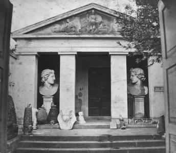 Casa Tarpeia, Erster Sitz des 'Instituto di Corrispondenza' in Rom (Foto ca. 1854)
