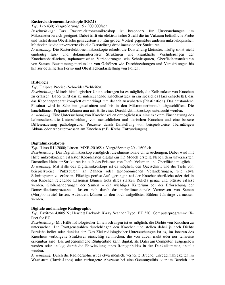Methoden des Referats Naturwissenschaften des DAI