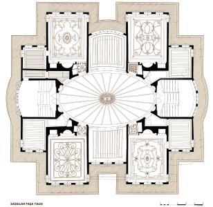 Grundriss des Sadullah Pasa Yalisi in der Bauaufnahme