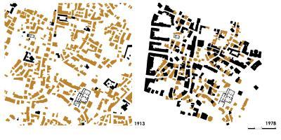 Zeyrek, Situation des Untersuchungsgebiets 1913 und 1978